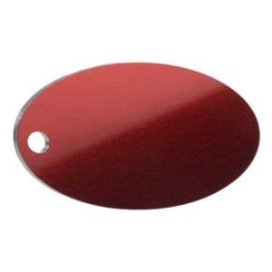 Medaglietta Personalizzata Ovale - Medaglietta-Incisa-Basic-Ovale-Rosso-Lucido-min
