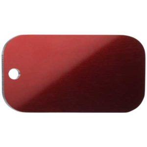 Medaglietta Personalizzata Piastrina Militare - Medaglietta-Incisa-Basic-Piastrina-Militare-Rosso-Lucido-min