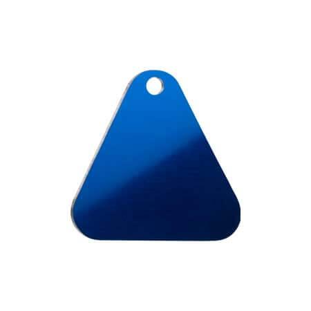 Medaglietta-Incisa-Basic-Triangolo-Blue-Lucido
