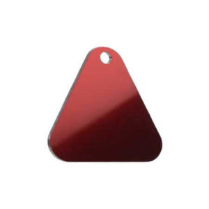 Medaglietta Personalizzata Triangolo - Medaglietta Personalizzata triangolo -Medaglietta Personalizzata trifoglio %sep% %title% %page% %sep% %sitename% medaglietta inMedaglietta-Incisa-Basic-Triangolo-Rosso-Lucido