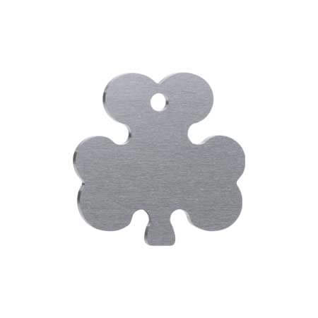 Medaglietta-Incisa-Basic-Trifoglio-Argento-Opaco