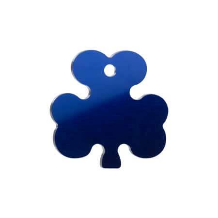 Medaglietta-Incisa-Basic-Trifoglio-Blue-Lucido