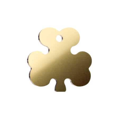 Medaglietta-Incisa-Basic-Trifoglio-Oro-Lucido