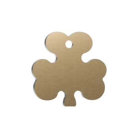 Medaglietta-Incisa-Basic-Trifoglio-Oro-Opaco