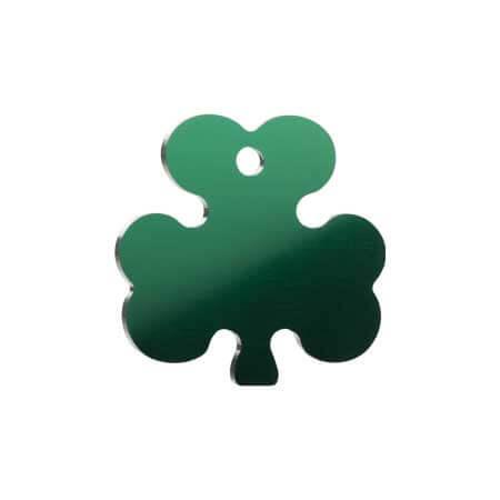 Medaglietta-Incisa-Basic-Trifoglio-Verde-Lucido