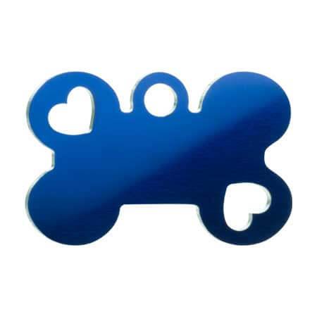 Medaglietta-Incisa-Funny-Osso-con-Cuore-Blue-Lucido