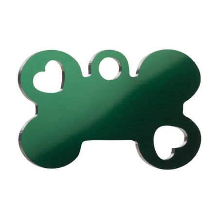 Medaglietta-Incisa-Funny-Osso-con-Cuore-Verde-Lucido