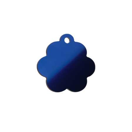 Medaglietta-Incisa-Luxury-Fiore-Blue-Lucido-Retro