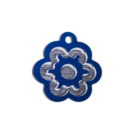 Medaglietta-Incisa-Luxury-Fiore-Blue-Lucido