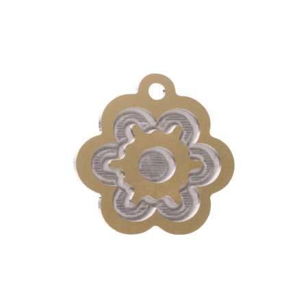 Medaglietta-Incisa-Luxury-Fiore-Oro-Lucido