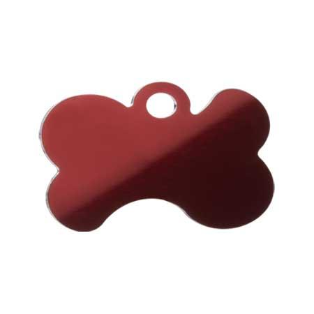 Medaglietta-Incisa-Luxury-Osso-Stilizzato-Rosso-Lucido-Retro