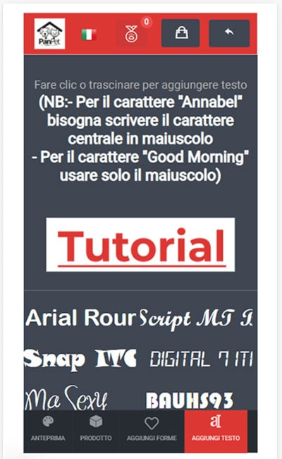 1.aggiungi-testo-e-seleziona-carattere-mobile